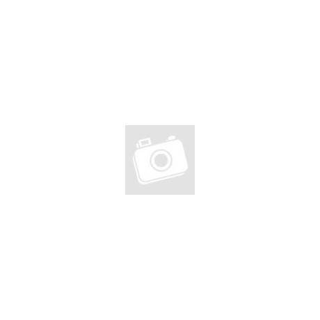 Törtfehér selyemszatén kámzsagalléros, uszályos menyasszonyi ruha 38